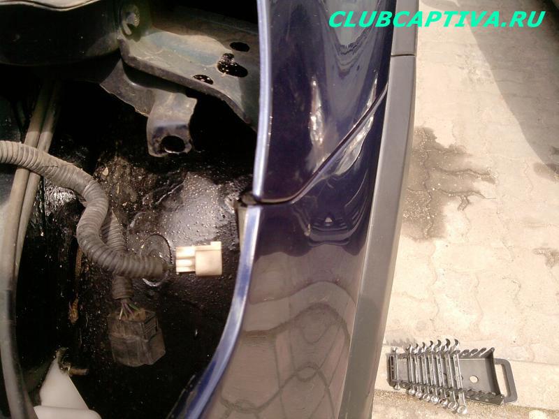 Ремонтируем сломанное крепление бампера на Chevrolet Captiva