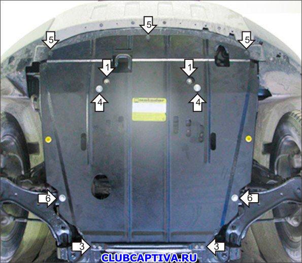 Защита картера Chevrolet Captiva C140