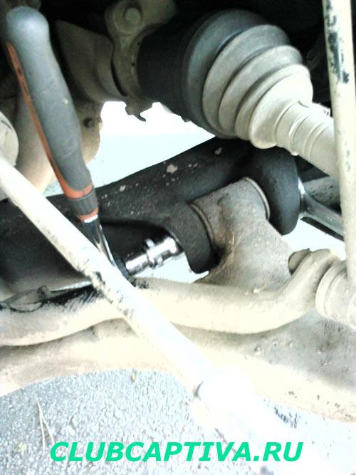 Замена сайлентблок рычага Chevrolet Captiva
